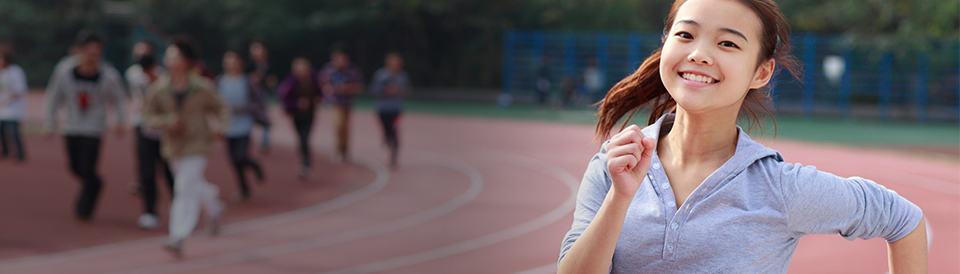 Girl Running Track