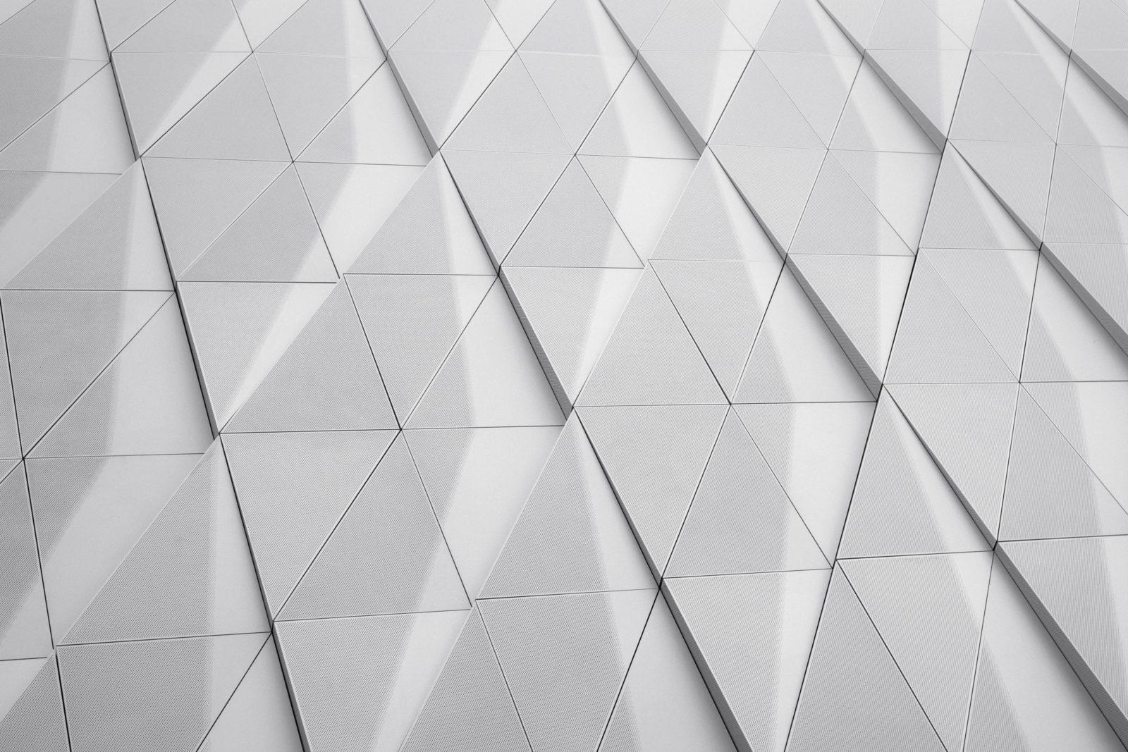 White Geometric Wall
