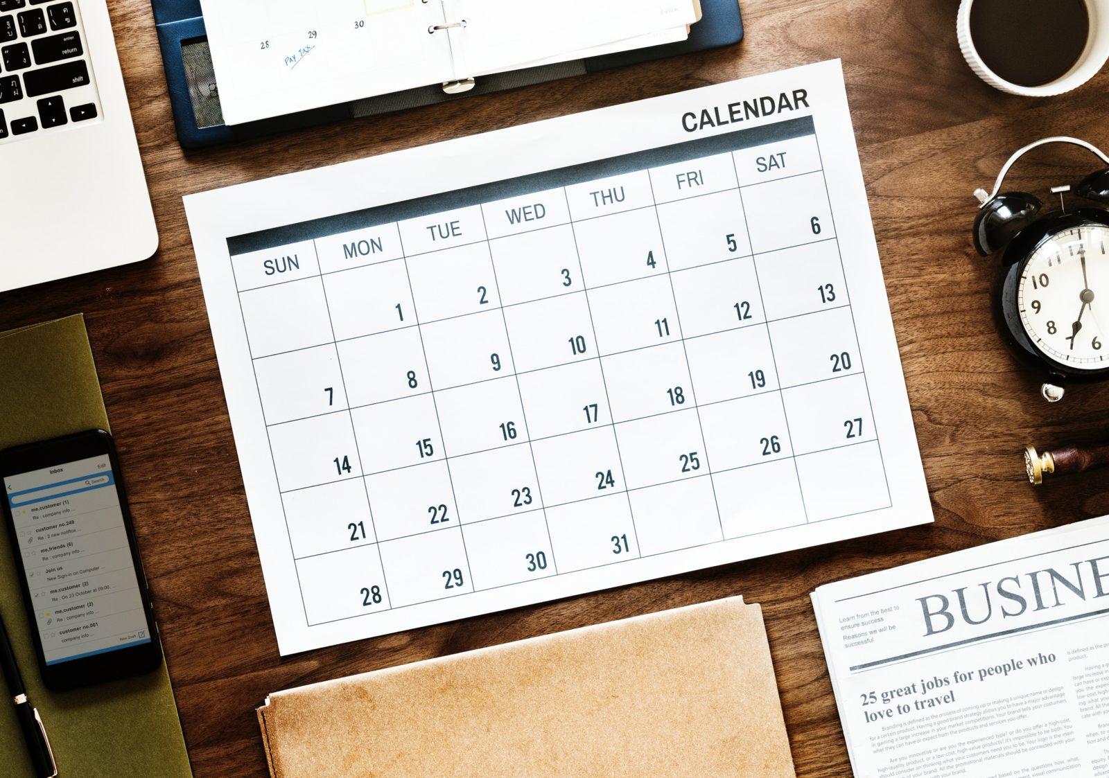 Calendar Desk Top