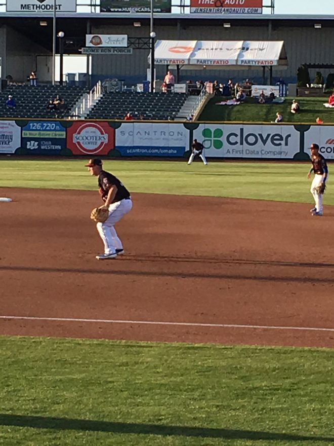 Left field banner at Omaha Storm Chasers